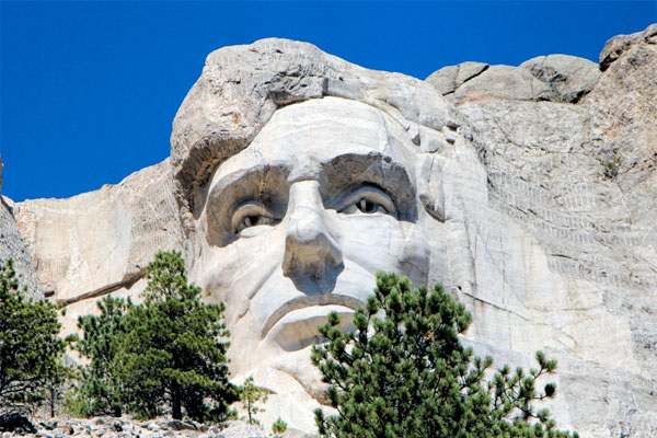 Mount Rushmore National Memorial - Which President is NOT there?