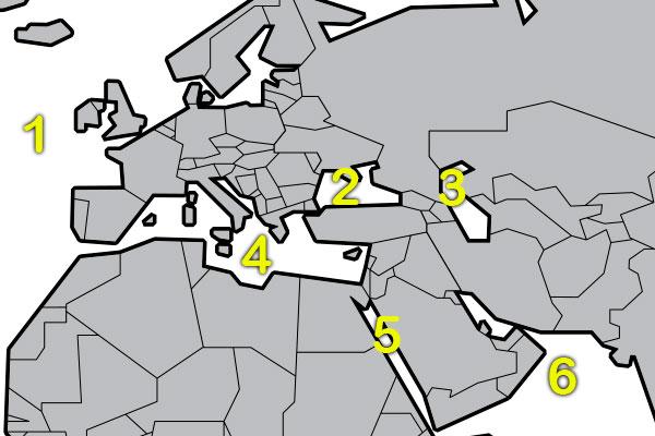 Quizagogo - geo quiz - world map