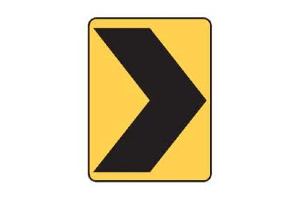 Quizagogo - US Road Signs - Chevron sign