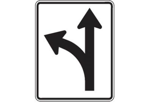 Quizagogo - US Road Signs - Regulatory Lane Use Sign