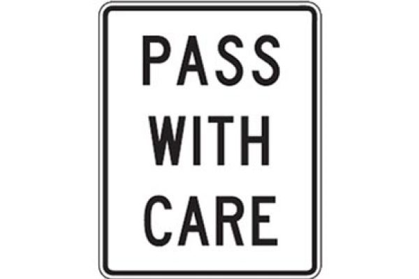 Quizagogo - US Road Signs - Pass With Care