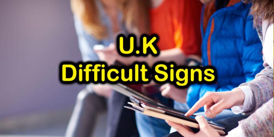 U.K. Most Diificult U.K. Traffic Signs - Challenge at Quizagogo
