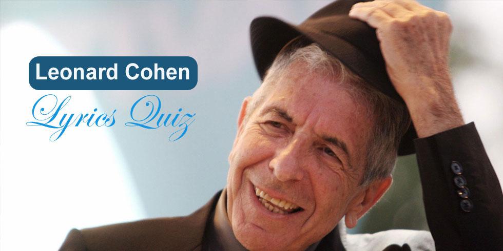 Leonard Cohen - Lyrics Trivia