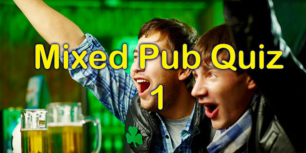 Mixed pub quiz