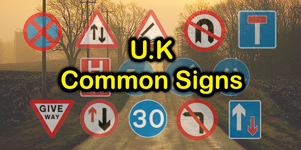 UK Most Common Traffic Signs