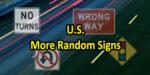 US More Random Signs