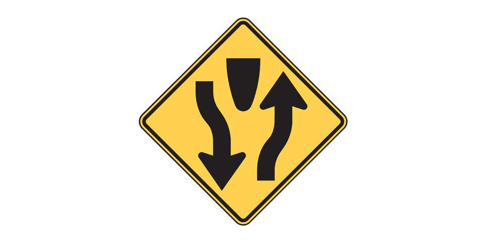 Road Signs and Their Meanings: Divided Highway Begins