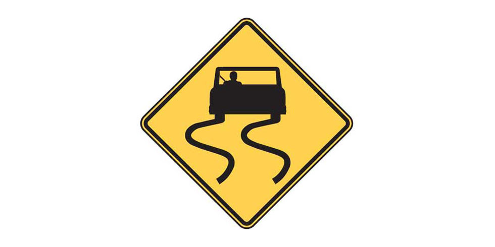 Road Signs and Their Meanings: Slippery When Wet