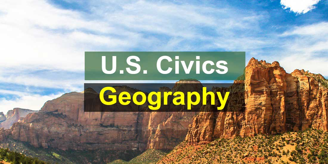 U.S. Civics Test - Geography