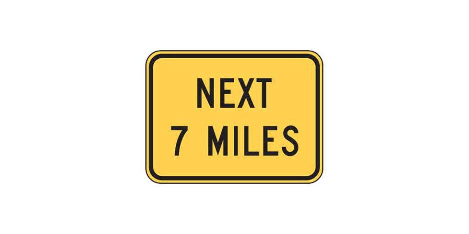 W7-3a - Next XX Miles Plaque