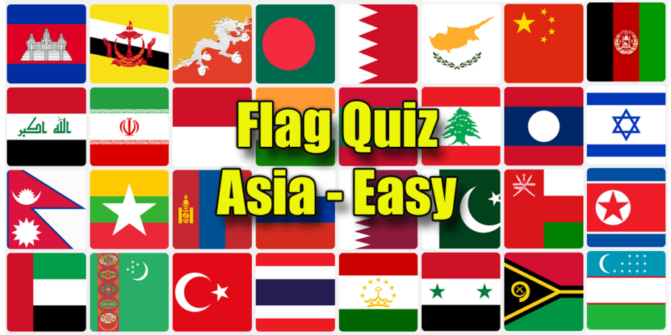 Asia flag quiz - easy questions