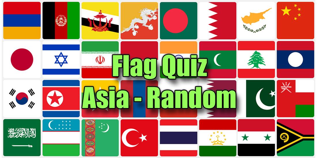 Asia flag quiz - random questions