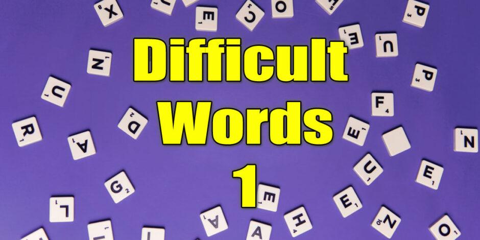 Difficult words quiz at quizagogo.com