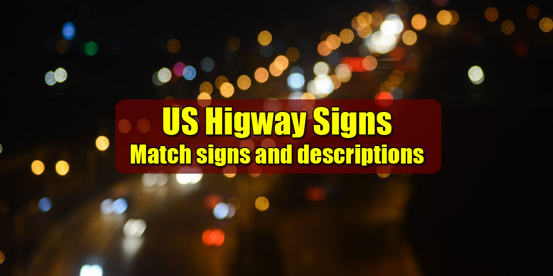 Match signs and descriptions