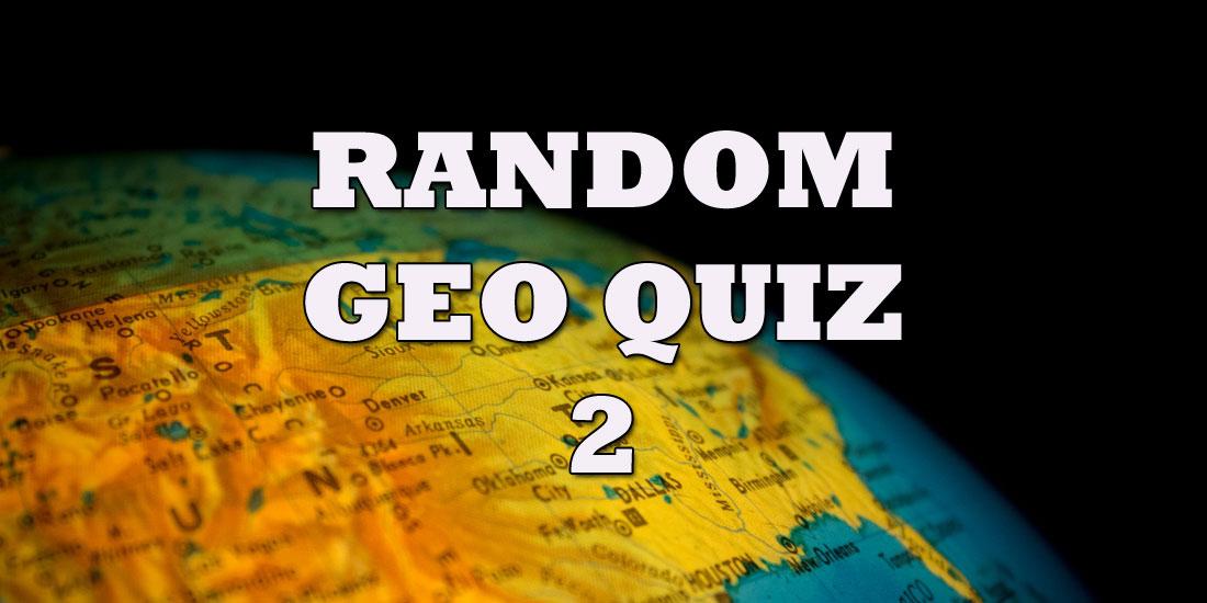 Random Geo Quiz 2 - Photo by Antonio Quagliata