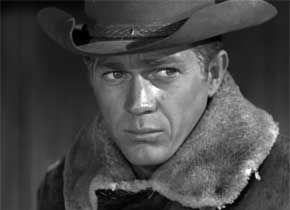 In which TV series does Steve McQueen play the role as bounty hunter Josh Randall?